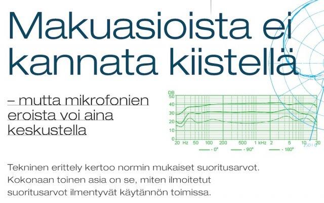 Mikrofonien vertaaminen/kokeilu