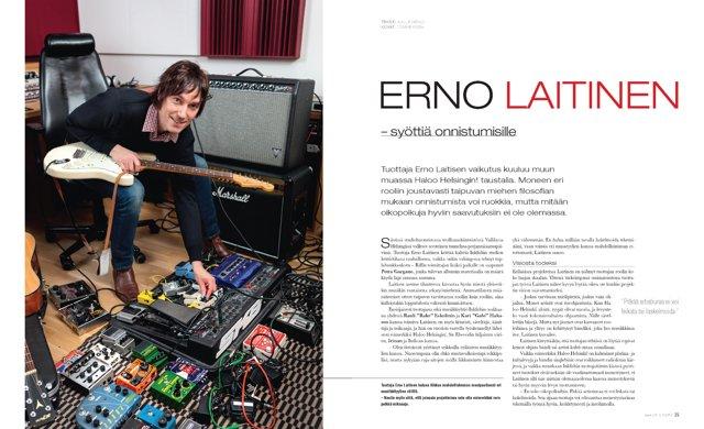 Tuottaja Erno Laitinen Riffin haastattelussa