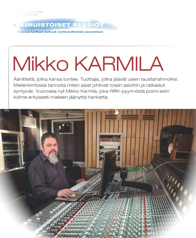 Mikko Karmila, haastattelu, Riffi