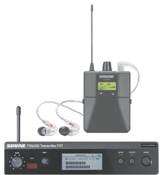 Shure PMS300 monitorilangaton