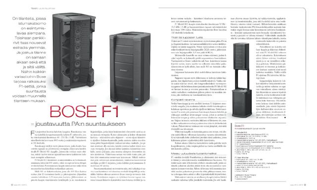 Bose F1 PA:n käytötesti
